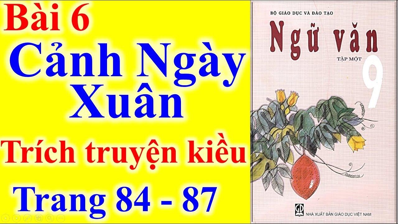 Ngữ Văn Lớp 9 Bài 6 – Cảnh Ngày Xuân – Trang 84 – 87