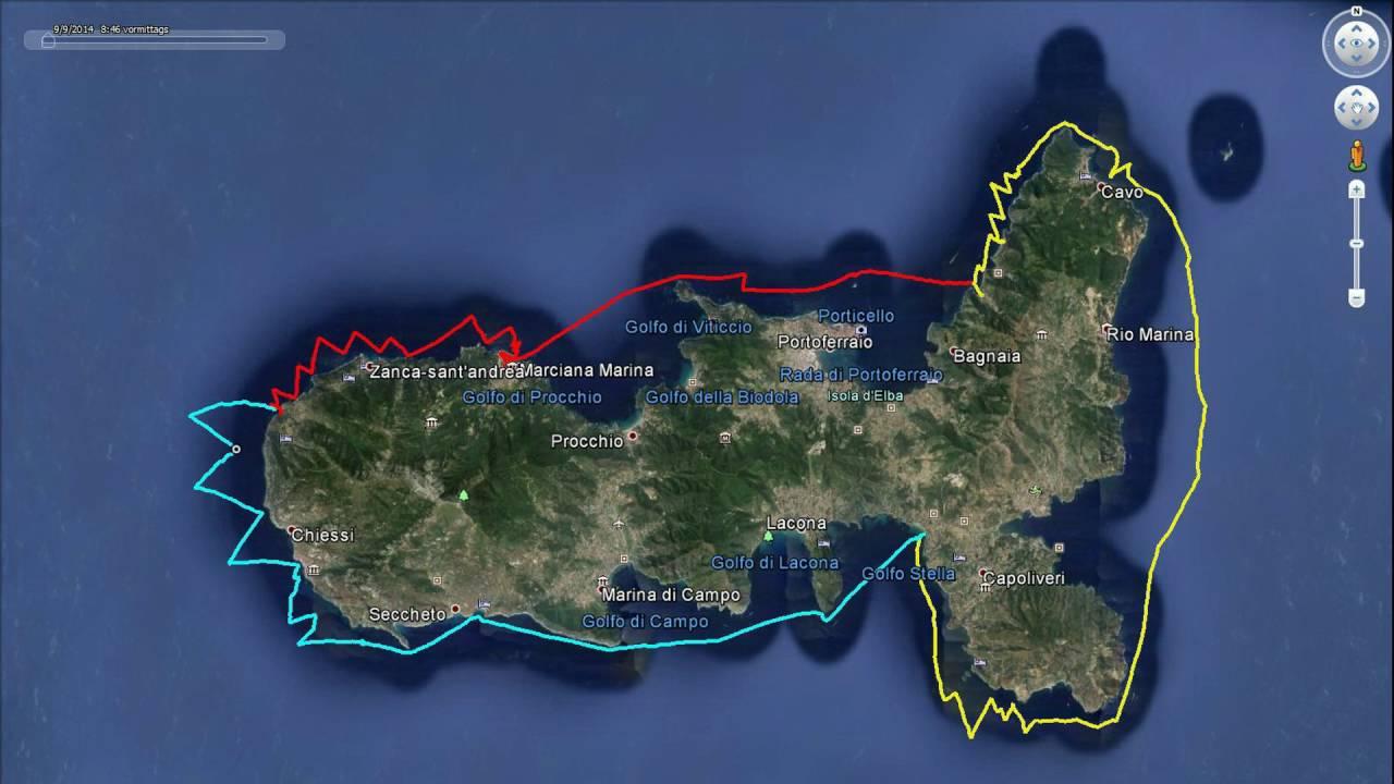 Insel Elba Karte.5 Reif Für Die Insel Elba 2016 Die Karten Und Touren Logistik Beim Paddeln Segeln