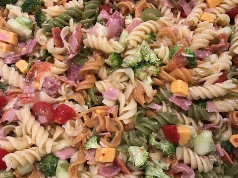 Tri-Color Pasta Salad Recipe With Italian Dressing