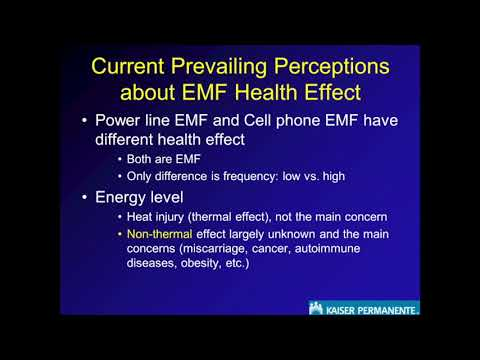 Exposure to EMF and Risk of Miscarriage, Asthma, Obesity Dr.  De Kun Li, Kaiser Permanente