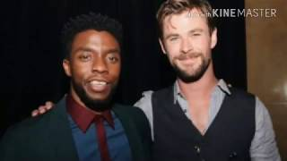 Chadwick Boseman Reminds Hemsworth He Should Have Gone for Thanos' Head
