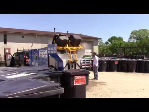 Wheelie Bin Cleaning System Cleans 50 cans per hour! Hydro-Chem Systems