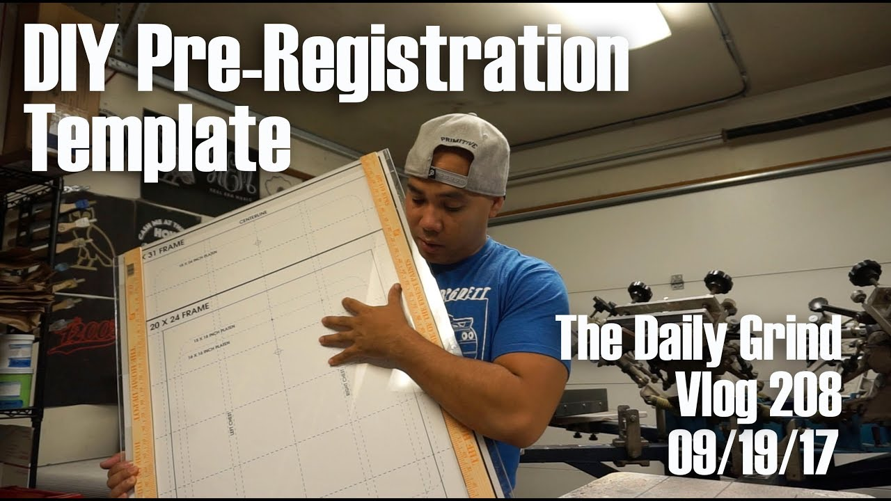 Diy Pre-registration Template