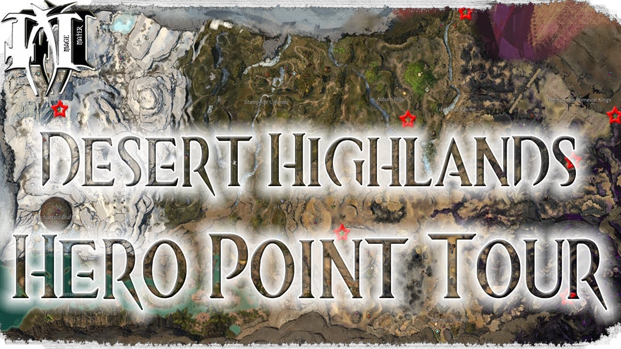 Gw2 Path Of Fire Desert Highlands Hero Point Tour Youtube