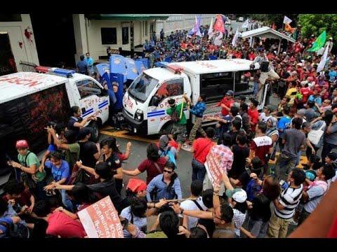 Mga senador, kinondena ang marahas na dispersal sa US Embassy rally kahapon
