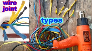 Wiring wire joint of types ।। wiring wire joint ।। wire shrink tube joint