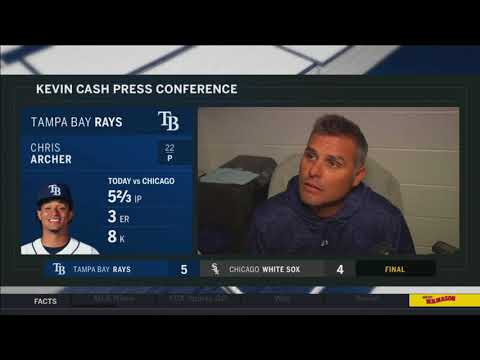 Kevin Cash -- Tampa Bay Rays at Chicago White Sox 04/09/2018