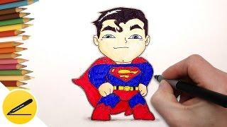 Как Нарисовать Супермена (чиби) пошагово | Учимся Рисовать Супергероя(Как нарисовать Супермена (чиби). В этом видео я показываю как нарисовать Супермена (супергерои, персонажи)..., 2016-11-16T13:58:35.000Z)