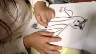 キャシャーンにハマっている7歳の娘が絵を描いていました。 めっちゃかわいいキャシャーンです(*^^*)