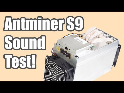 ANTMINER S9 NOISE/SOUND LEVEL TEST | CLOSE & FAR RANGE