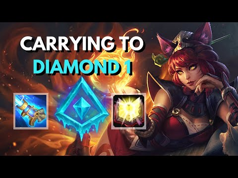 HOW I CARRY WITH AHRI IN DIAMOND 2 | Fox Fire Ahri Ranked Gameplay