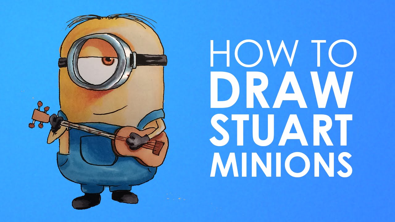 Show me how to draw a minion - How To Draw Sutart Minion From Minions Easy Step By Step Video Lesson For Beginners Youtube