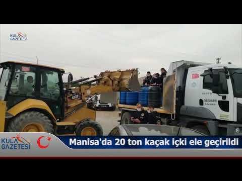 Manisa'da 20 ton kaçak içki ele geçirildi