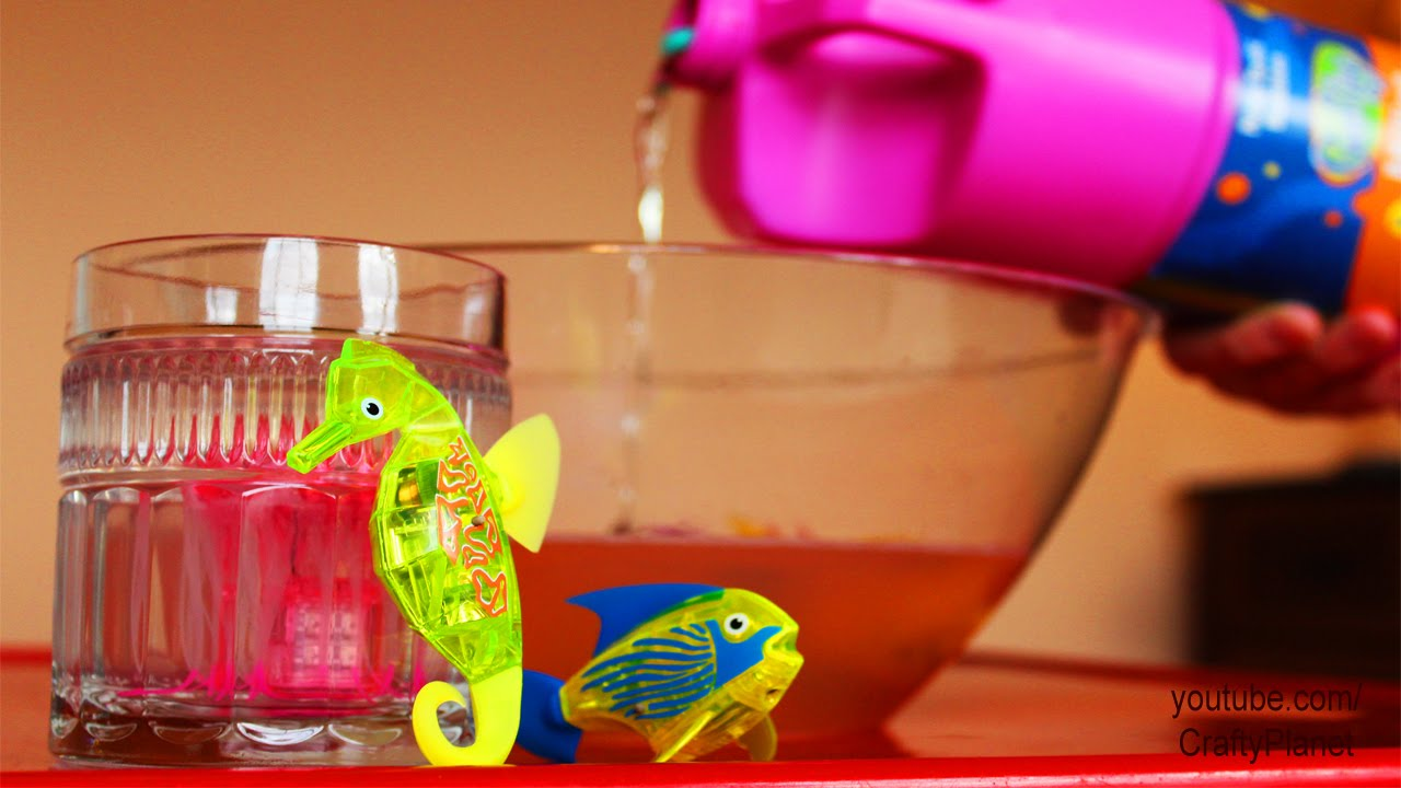Can a hex bug fish swim in a bubble soap aquabot for Hex bugs fish
