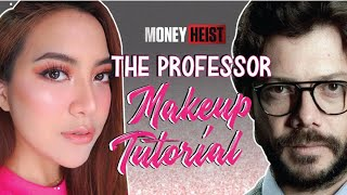 Money Heist Make Up Tutorial - The Professor | Mawar Rashid