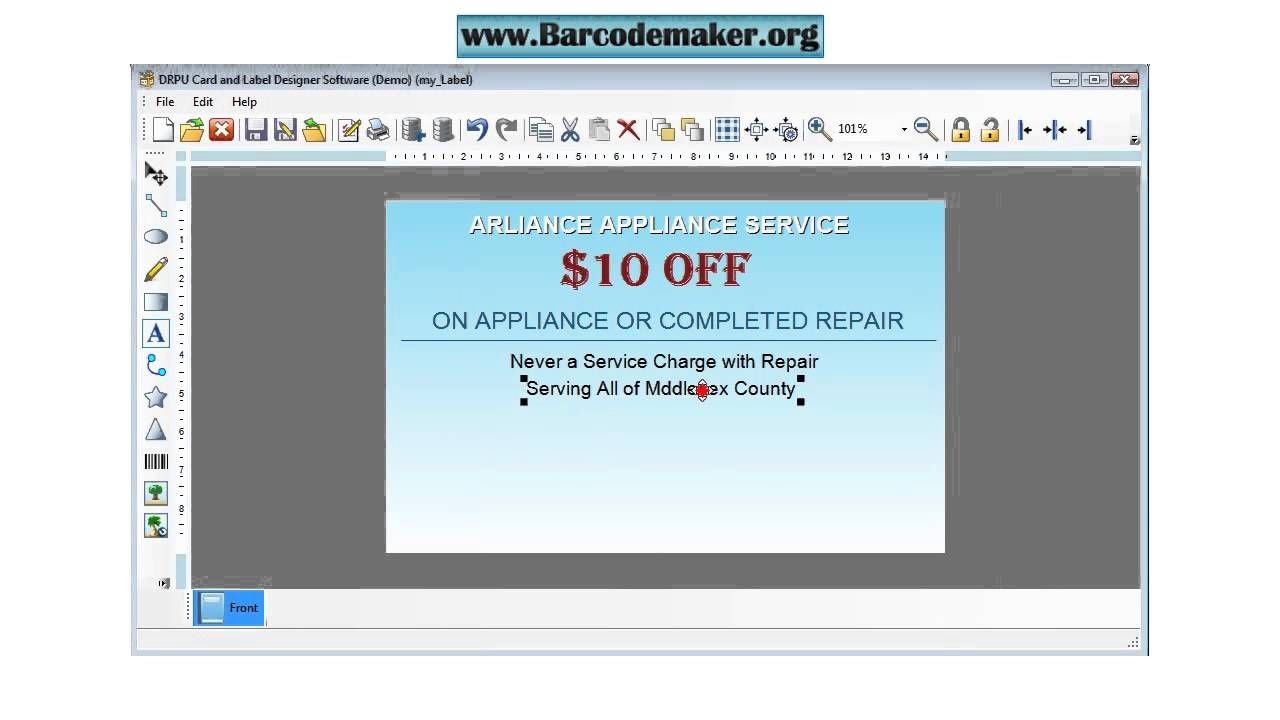free card designing software label maker tool company school