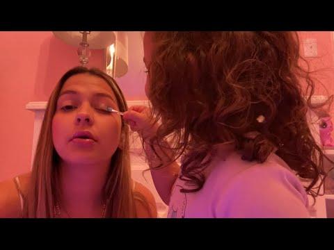 [ASMR] Daughter does my makeup ✨🎀🙈