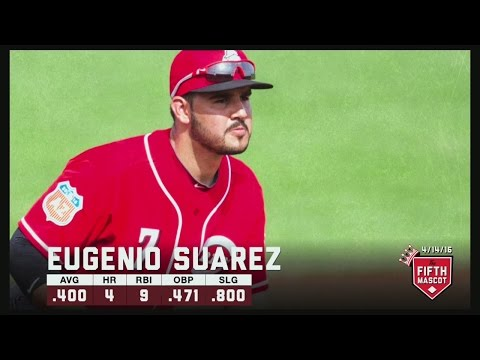 Cincinnati Reds third-baseman Eugenio Suarez is showing the world why he's in the big leagues - Fift
