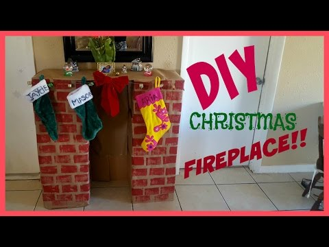 Super easy DIY ChristmasFireplace! Less than $10