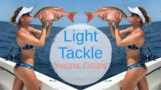 Girls Light TACKLE Reef fishing for SNAPPER in Key West