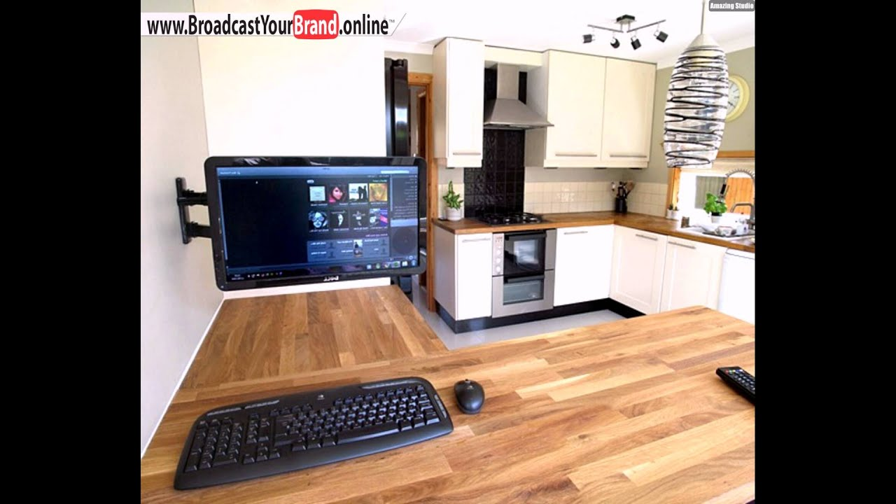 elegante k che computer einbauen youtube. Black Bedroom Furniture Sets. Home Design Ideas