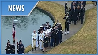 George H.W. Bush laid to rest with wife Barbara and daughter Robin