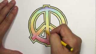 How to Draw a Peace Sign with Rainbow Colors | MAT