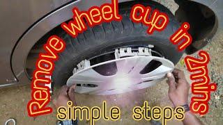 #marutisuzuki #wagonrwheelcup  How to remove wheel cup of Maruti Suzuki Wagon R || 2019 Wheel Change