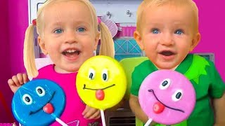 Rainbow Fruit Lollipops Color Song +More Nursery Rhymes & Kids Songs