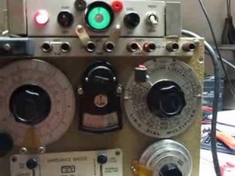 ESI Impedance Bridge Model 250 C1  Operating Instruction Note