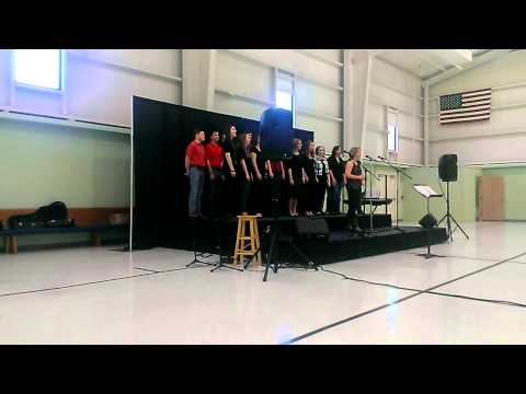The University of Alabama's School of Law's The Footnotes perform at high school fundraiser