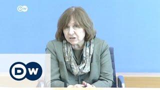 """Alexijewitsch : """"Wahl in Weißrussland ist eine Show""""    DW Nachrichten"""