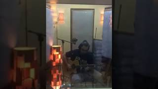 Bruno César gravando violão Nylon p/ dupla César e Moshe