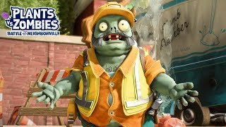 Engineer Zombie vs Super Bean Boss -  Plants vs. Zombies Battle for Neighborville - Gameplay Part 52