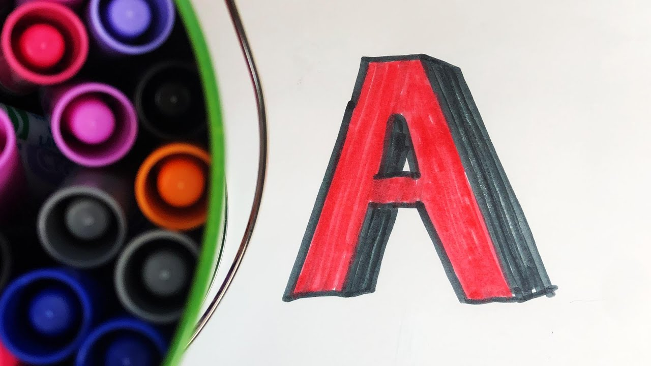 Crayola Color Markers ABC Letter Alphabet SONG - YouTube