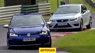 Volkswagen Golf R versus Seat Leon Cupra 280 - which is fastest?
