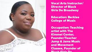 MEET OUR INSTRUCTORS FOR BLACK GIRLS DO BROADWAY! 2020