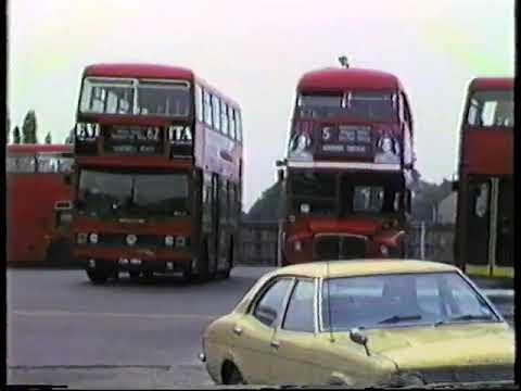London Buses 1985-Barking Garage, Titans & Routemasters