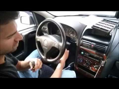Demontaż Immobiliser Poduszka Kierownica Manetka Stacyjka w Opel Astra G Vauxhall Zafira