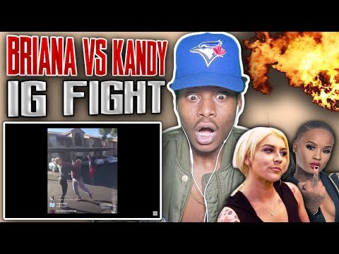 SHE PULLED UP ON HOMEGIRL!! 🔥😂 BGC- Briana vs. Kandy (IG Live) REACTION