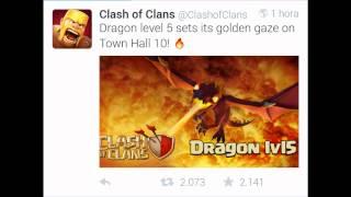 Nuevo Dragón Nvl5! Actualización Julio 2015 Clash of Clans