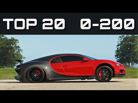 TOP 20 FASTEST 0-200 CARS | Forza Horizon 4 | Unreal Accelerations!