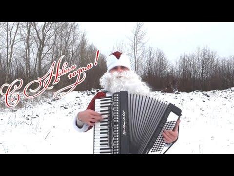 С новым годом !!!! Новогодняя дискотека авария. Николай Костин под Аккордеон. Cover.