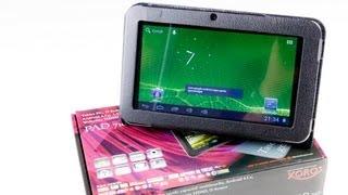 Recensione: Xoro PAD 716, 7 Zoll Android 4 Tablet-PC mit Tasche - sehr günstiges Tablet im Test