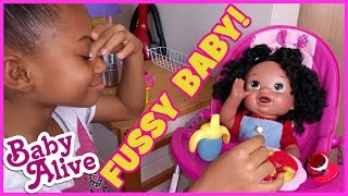 Fussy Magic Poop Baby Alive Doll Play Doh Spaghetti Night Routine + Name Reveal | BlueprintDIY Kids