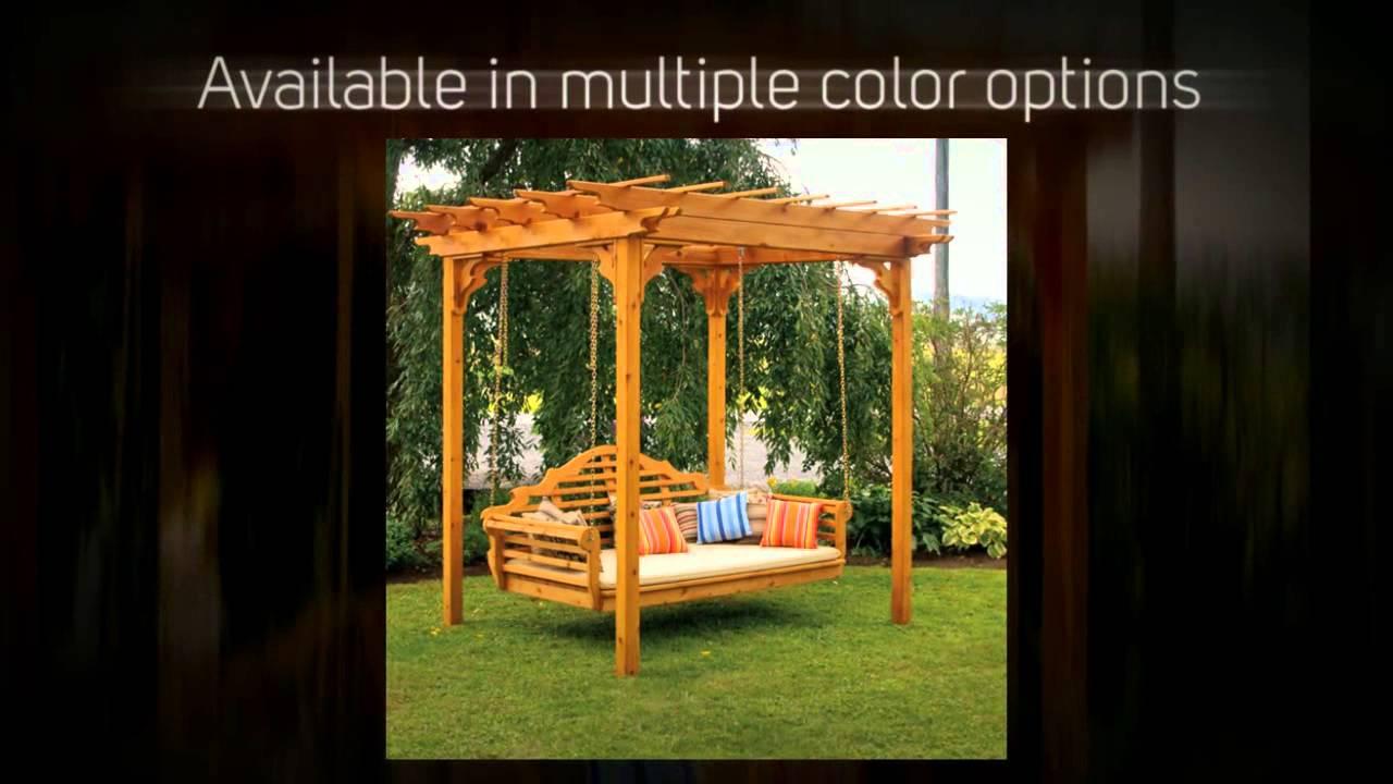 Al Furniture Co Cedar Pergola Swing Bed Stand 700c