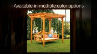 Al Furniture Co. Cedar Pergola Swing Bed Stand - 700c, 701c,