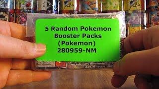 5 Random Pokemon Booster Pack Opening