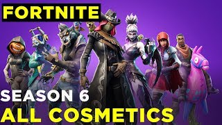 Fortnite Season 6 — All Battle Pass Cosmetics! Skins, Gliders, Pets, Toys, Emotes, and More