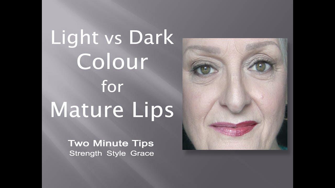 light vs dark lipcolour for mature lips - youtube